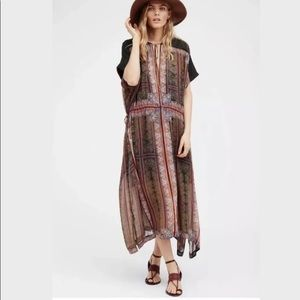 NEW Free People Romantics Gardenia Fog Dress S: M